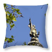 Columbus Monument - Barcelona Throw Pillow