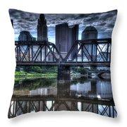 Columbus Ohio Downtown IIi Throw Pillow