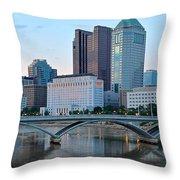 Columbus Panorama Throw Pillow