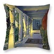Columns And Chairs Throw Pillow