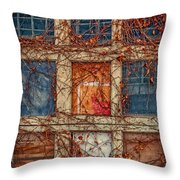 Columns And Rows Throw Pillow