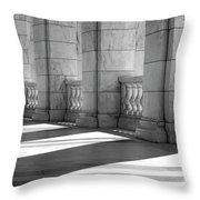 Columns And Shadows Throw Pillow