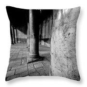 Columns At The Church Of Nativity Throw Pillow