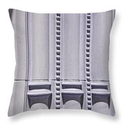 Columns In Sunshine And Shadow Throw Pillow