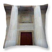 Columns Of Second Bank In Philadelphia Throw Pillow