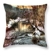 Colville River Throw Pillow