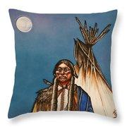 Comanche Moon Throw Pillow