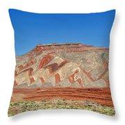 Comb Ridge Utah Near Mexican Hat Throw Pillow by Christine Till
