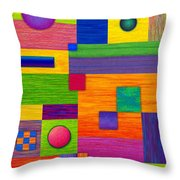 Combination Throw Pillow by David K Small