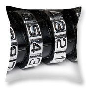 Combination Lock Macro Throw Pillow