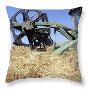 Combine Harvester  Throw Pillow