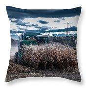 Combining Corn Throw Pillow