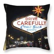 Come Back Soon Las Vegas  Throw Pillow