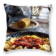 Come Dine Throw Pillow by Camille Lopez