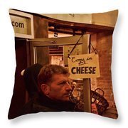 Come In For Cheese Throw Pillow