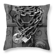 Come On In In Black And White Throw Pillow