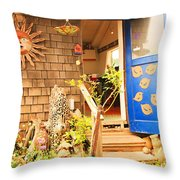 Come On In To A Mendocino Art Studio Throw Pillow