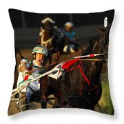 Horse Racing Come On Number 6 Throw Pillow