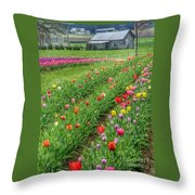 Come See Tulips  Throw Pillow
