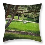 Come Sit - Enjoy Throw Pillow