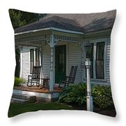 Come Sit On My Porch Throw Pillow