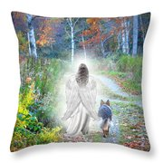 Come Walk With Me Throw Pillow by Sue Long