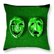Comedy And Tragedy Masks 3 Throw Pillow