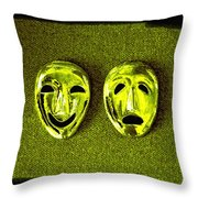 Comedy And Tragedy Masks 6 Throw Pillow