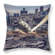 Comerica Park Asteroid Throw Pillow