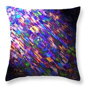Comet Of Colour Throw Pillow
