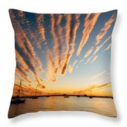 Comet Sunset Throw Pillow