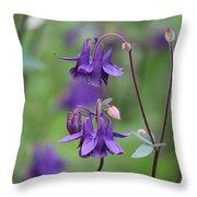 Comfort In Purple Throw Pillow