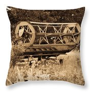 Comgine Wheel In Sepia Throw Pillow