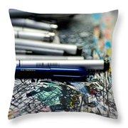Comic Book Artists Workspace Study 1 Throw Pillow