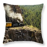 Coming Around The Bend Throw Pillow