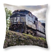 Coming Down The Tracks Throw Pillow