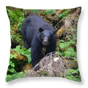 Coming Downhill Throw Pillow