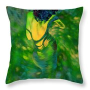 Coming Home After The Party Throw Pillow