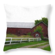 Coming Home - Digital Painting Effect Throw Pillow