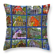 Coming Home Photo Assemblage In Asbury Grove In South Hamilton-massachusetts Throw Pillow