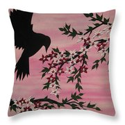 Coming Home To Roost Throw Pillow by Cathy Jacobs