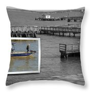 Coming In To Dock Throw Pillow