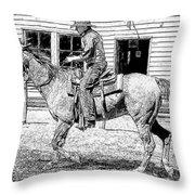 Coming Into Town Throw Pillow