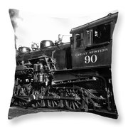 Coming Out Of The Engine Shed Throw Pillow