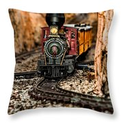 Coming Round The Bend Throw Pillow