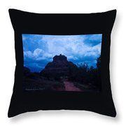 Coming Storm Bell Rock Throw Pillow