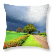 Coming This Way Throw Pillow