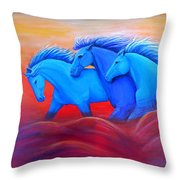 Coming Through The Storm Throw Pillow