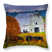 Coming To The Barn Throw Pillow
