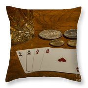 Coming Up Aces Throw Pillow